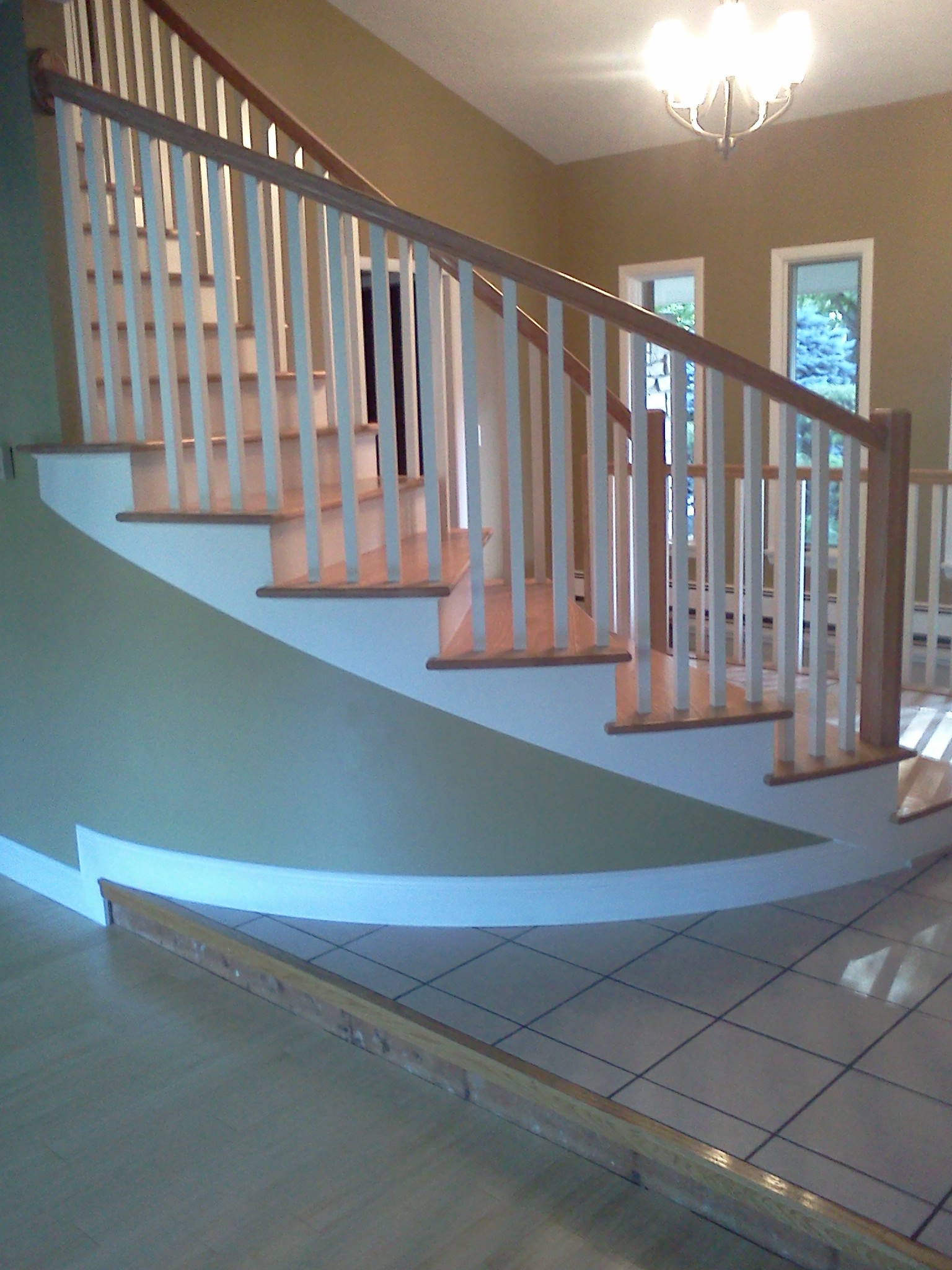 Custom Staircase Graziano Builders New Construction